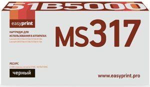 Картридж 51B5000 черный  для Lexmark